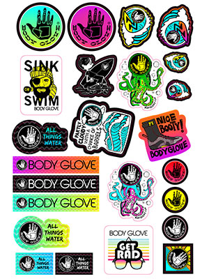 Round stickers, rectangle stickers, big stickers, little stickers, girl stickers